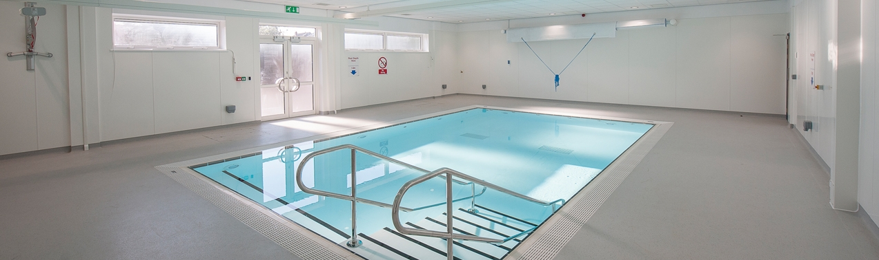 hydrotherapy pool at Elms Bank