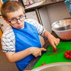 Pupil in a food technology lesson at Elms Bank