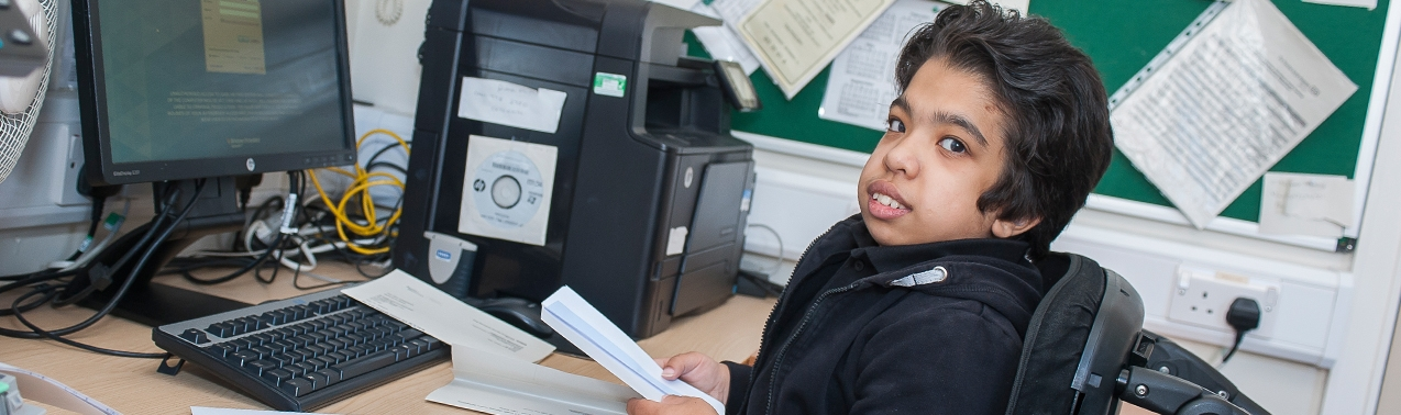 Pupil on work experience at Elms Bank
