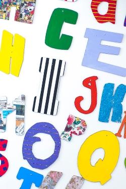 Alphabet Art at Elms Bank